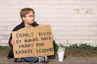 Begging, image via Shutterstock