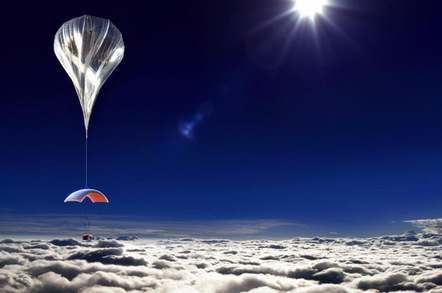 Artist's impression of the podule in flight, under the balloon. Pic: World View