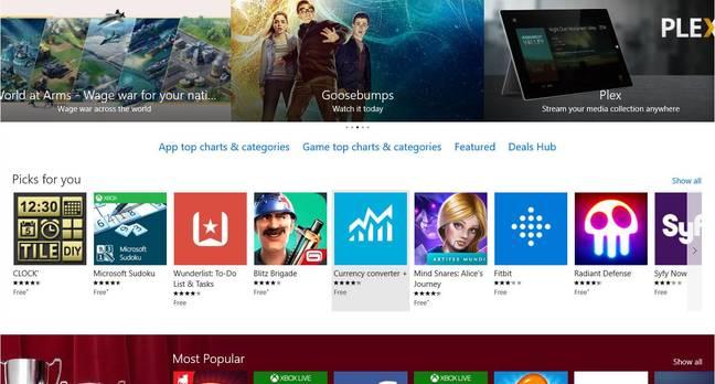 The Windows 10 Store