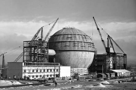 Building Dounreay Fast Reactor copyright Dounrea Site Restoration Ltd and Nuclear Decommissioning Authority