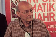 AI pioneer Marvin Minsky at a talk in Germany in 2006. Photo by Steamtalks CC 2.0