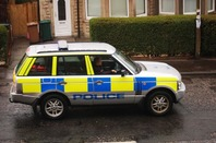 Scottish police car on patrol. Photo by Shutterstock - for editorial use only!!!!