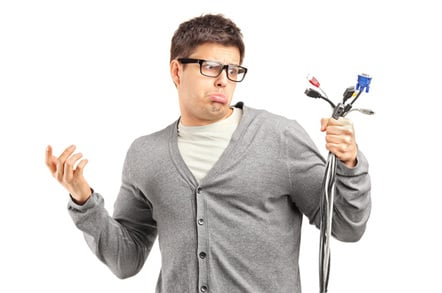 Cable confusion, image via Shutterstock