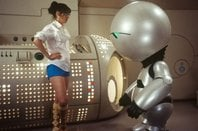 Trillian chats to a depressed Marvin the Robot in the 2005 film version of Hitchhiker's Guide to Galaxy. C Walt Disney Pictures
