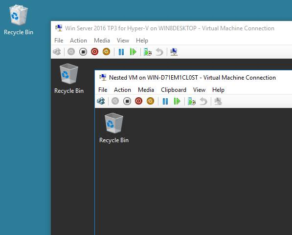 Nested VMs in Hyper-V 2016