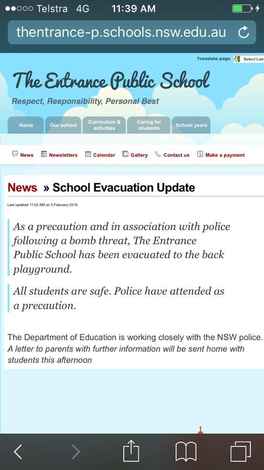 The Entrance Public School shuts