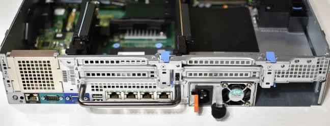 Dell Poweredge R730 rear