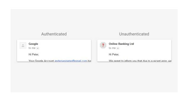 Gmail authentication failure flag