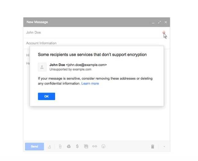 Gmail encryption flag