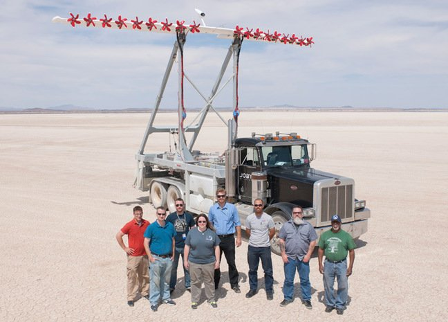 The HEIST rig with experimental wing. Pic: NASA