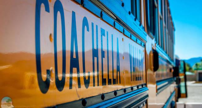 A Coachella School District bus