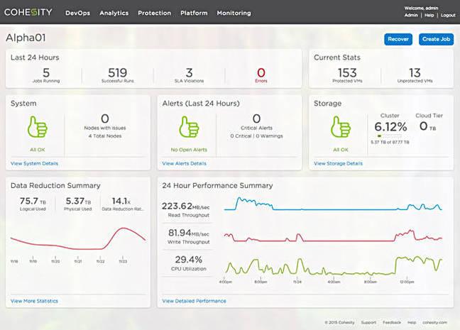 Cohesity_UI_dashboard