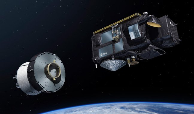 Sentinel satellite separating from the Briz upper stage. Pic: ESA