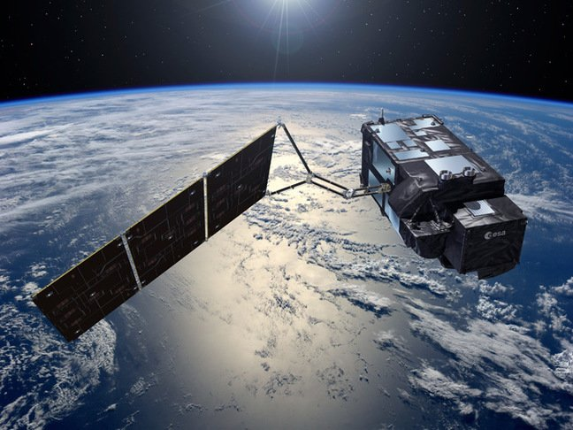 Artist's impression of a Sentinel 3 satellite in orbit. Pic: ESA