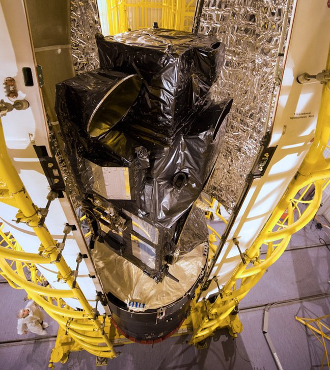 The Sentinel encapsulation. Pic: ESA / Stephane Corvaja