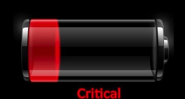 Critical Battery Icon old laptop by https://www.flickr.com/photos/intelfreepress/ cc2.0 sharealike generic https://creativecommons.org/licenses/by-sa/2.0/