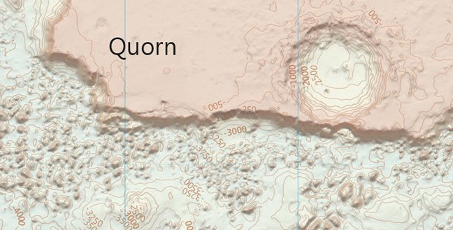 A detail of the OS Mars map