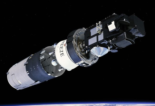 Artist's impression of the Sentinel second stage separation. Pic: ESA