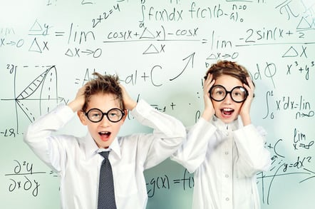 Kid nerds photo via Shutterstock