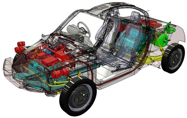A CAD view of the Rasa's internal workings