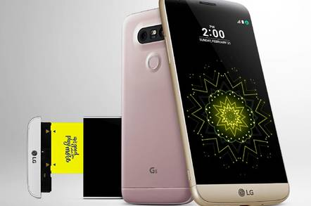 LG's G5 smartphone has a removeable battery and other companion devices