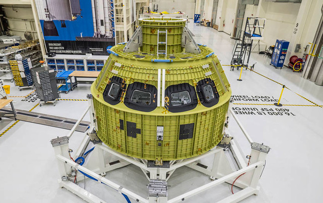 The Orion Pressure Vessel at Kennedy Space Center. Pic: NASA