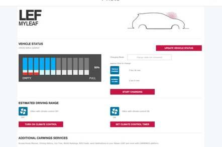 Nissan Leaf Connect App