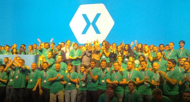 The Xamarin team at its Evolve conference in 2014