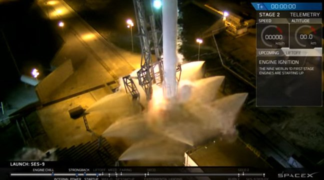 The Falcon 9 engines shut down