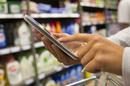 Tablet in shop, photo via Shutterstock