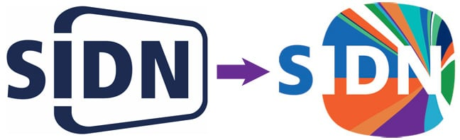 The old and new SIDN logos