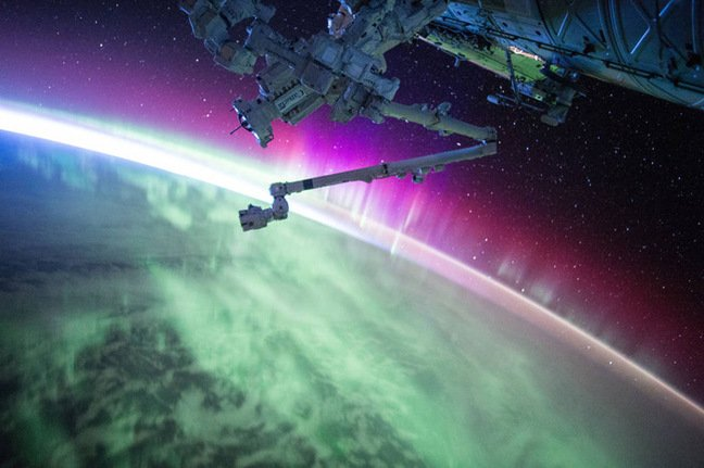 Scott Kelly's image of the aurora