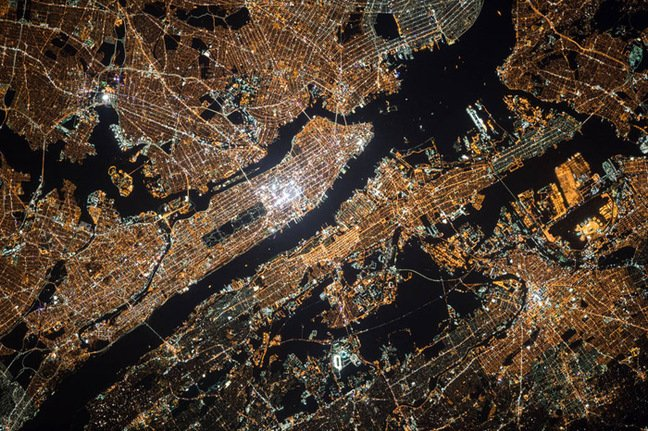 Kelly's view of New York at night
