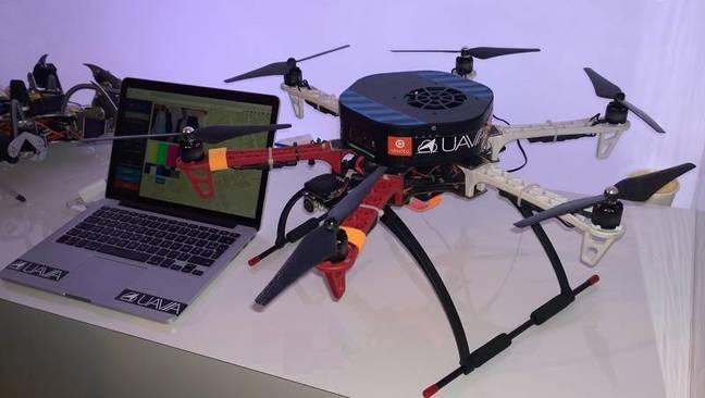 A drone running Ubuntu, made by Uavia