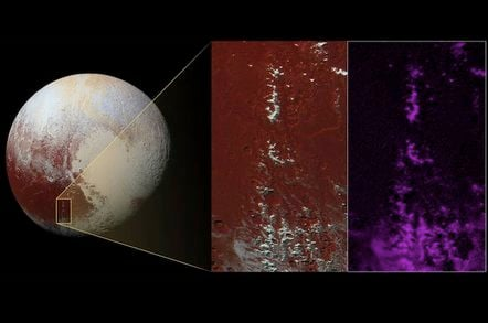 The methane mountains of Pluto's Cthulhu Regio Credits: NASA/JHUAPL/SwRI