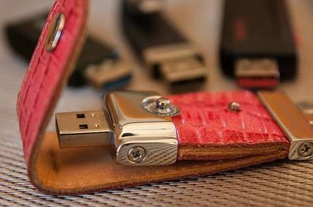 USB in a leather case