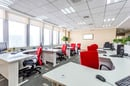 Empty office space, image vIa Shutterstock