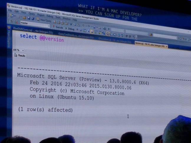 SQL Linux