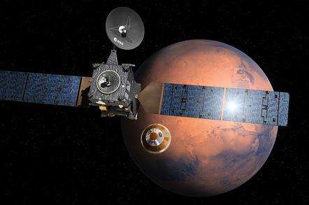Schiaparelli separating from Trace Gas Orbiter. Pic: ESA–D. Ducros