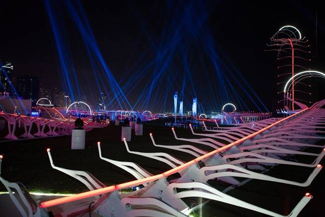 Drone racing track in Dubai