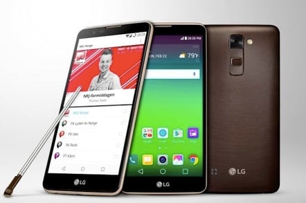 The LG Stylus DAB+ comes in tan, white or brown