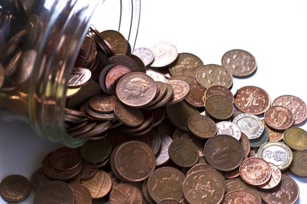 Pennies in a jar. Photo via Shutterstock