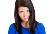 Woman looking sceptical. photo by shutterstock