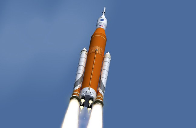 Artist's impression of the SLS launch. PIC: NASA