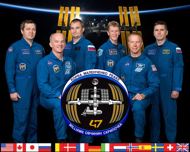 The full Expedition 47 crew. Pic: NASA