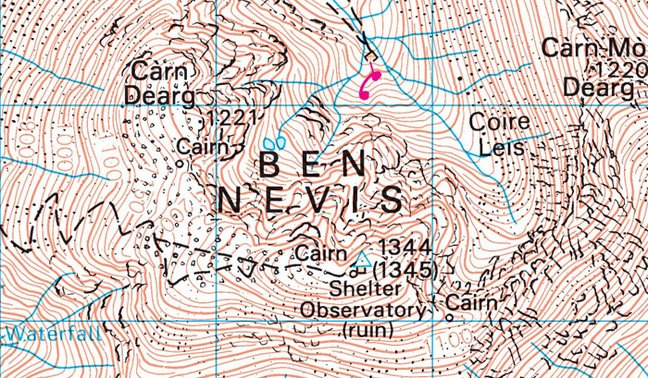 The New OS map of Ben Nevis. Pic: Ordanance Survey