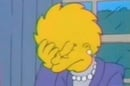 President Lisa Simpson face palm