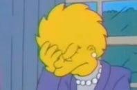 President Lisa Simpson face palm