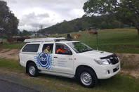 NBN truck on Mount Cotton