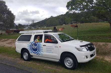 NBN truck on Mount Cotton